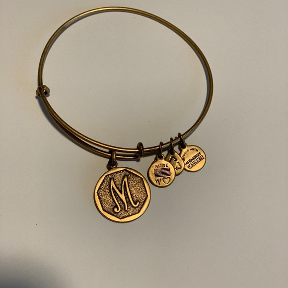 Alex and Ani Jewelry - Alex & Ani Initial Expandable Wire Bangle